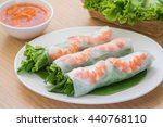 fresh spring roll with shrimp... | Shutterstock . vector #440768110