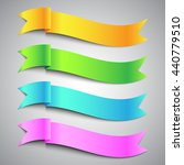 colorful ribbon banner orange... | Shutterstock .eps vector #440779510