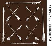 monochrome tribal set with... | Shutterstock .eps vector #440782663