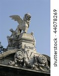 Winged Lion On A Top Of...