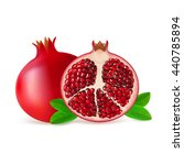 whole and half pomegranate... | Shutterstock .eps vector #440785894