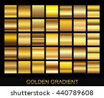 vector set of gold gradients... | Shutterstock .eps vector #440789608