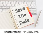 word text save the date on... | Shutterstock . vector #440802496