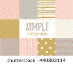 vector seamless patterns with... | Shutterstock .eps vector #440803114