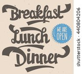 breakfast  lunch  dinner.... | Shutterstock .eps vector #440804206