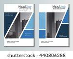 leaflet brochure flyer template ... | Shutterstock .eps vector #440806288