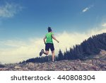 healthy young woman trail... | Shutterstock . vector #440808304