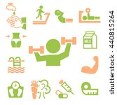 healthy icons set | Shutterstock .eps vector #440815264