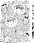 coloring book page for adult... | Shutterstock .eps vector #440816743