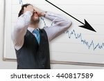 bad investment or economic... | Shutterstock . vector #440817589