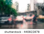 rain drops on car glass ... | Shutterstock . vector #440822878