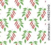 seamless pattern green leaves... | Shutterstock .eps vector #440825440