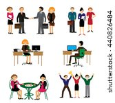 business people group human... | Shutterstock .eps vector #440826484