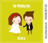 wedding invitation card.... | Shutterstock .eps vector #440828710