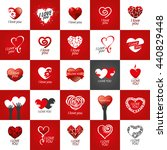 vector logo heart | Shutterstock .eps vector #440829448