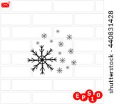 snowflake vector. background...