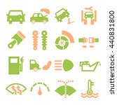 fix car icon set | Shutterstock .eps vector #440831800