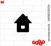 home vector. background bricks.