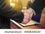 businessman shaking hands ...   Shutterstock . vector #440834020