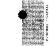 Small photo of ink blob on paper background - typewriter text - free space for design