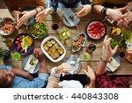 dinner of friends   Shutterstock . vector #440843308