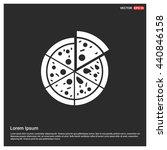 classic pizza icon | Shutterstock .eps vector #440846158