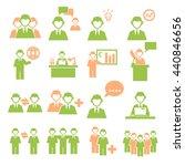 employee  employees icon set | Shutterstock .eps vector #440846656