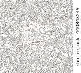 cartoon cute doodles hand drawn ... | Shutterstock .eps vector #440848249