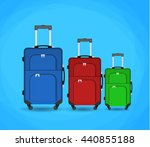 three travel bag isolated on... | Shutterstock . vector #440855188