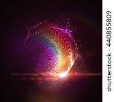3d illuminated abstract digital ... | Shutterstock .eps vector #440855809