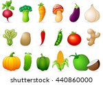 fresh vegetables cartoon | Shutterstock .eps vector #440860000