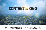 Content Is King Text On City...
