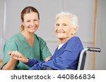 geriatric nurse and senior...   Shutterstock . vector #440866834