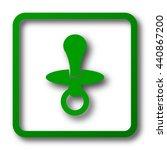 pacifier icon. internet button...   Shutterstock . vector #440867200