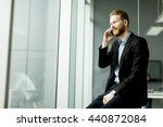 businessman on a phone in the... | Shutterstock . vector #440872084