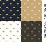 set seamless pattern in retro... | Shutterstock . vector #440873740