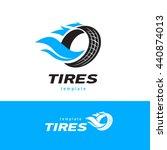 tires logo design template ... | Shutterstock .eps vector #440874013