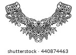 neck print for fashion and... | Shutterstock .eps vector #440874463
