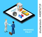 online insurance concept... | Shutterstock .eps vector #440876719