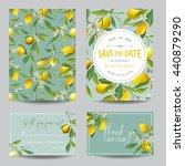save the date card. lemon ... | Shutterstock .eps vector #440879290
