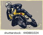 Skull Riding Classic Motorcycl...