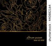 elegant floral background for... | Shutterstock .eps vector #440882164