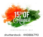white text 15th of august on... | Shutterstock .eps vector #440886793