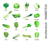 green vegetables flat icons... | Shutterstock .eps vector #440887510