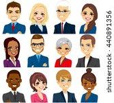 set of business people avatar...   Shutterstock .eps vector #440891356