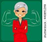 senior beautiful businesswoman... | Shutterstock .eps vector #440891398