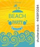 beach party template  summer... | Shutterstock .eps vector #440893084