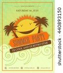 summer party template  beach... | Shutterstock .eps vector #440893150