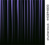 black and purple curtains... | Shutterstock .eps vector #440894800