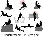 illustration with set of... | Shutterstock .eps vector #440895520